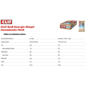 CLIF Bar Energy Bar Box 12x68g, White Chocolate Macadamia Nut